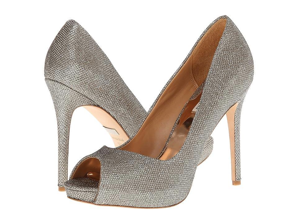 Badgley Mischka Kassidy II (Platino Diamond Drill Fabric) High Heels