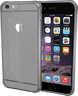 Smartish iPhone 6/6s Case - PureView Clear Case [Slim + Protective] Crystal Clear Phone Cover for iPhone 6/6s (Silk) - Space Gray