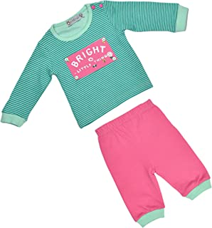 ALM Kids Baby Rompers two Piece Variations Pink and Grey combination & Green and Pink combination for Baby Boy Baby Girl F...