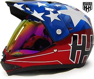 SmartDealsNow - HHH DOT Youth & Kids Helmet for Dirtbike ATV Motocross MX Offroad Motorcyle Street bike Snowmobile Helmet with VISOR (Large, USA)
