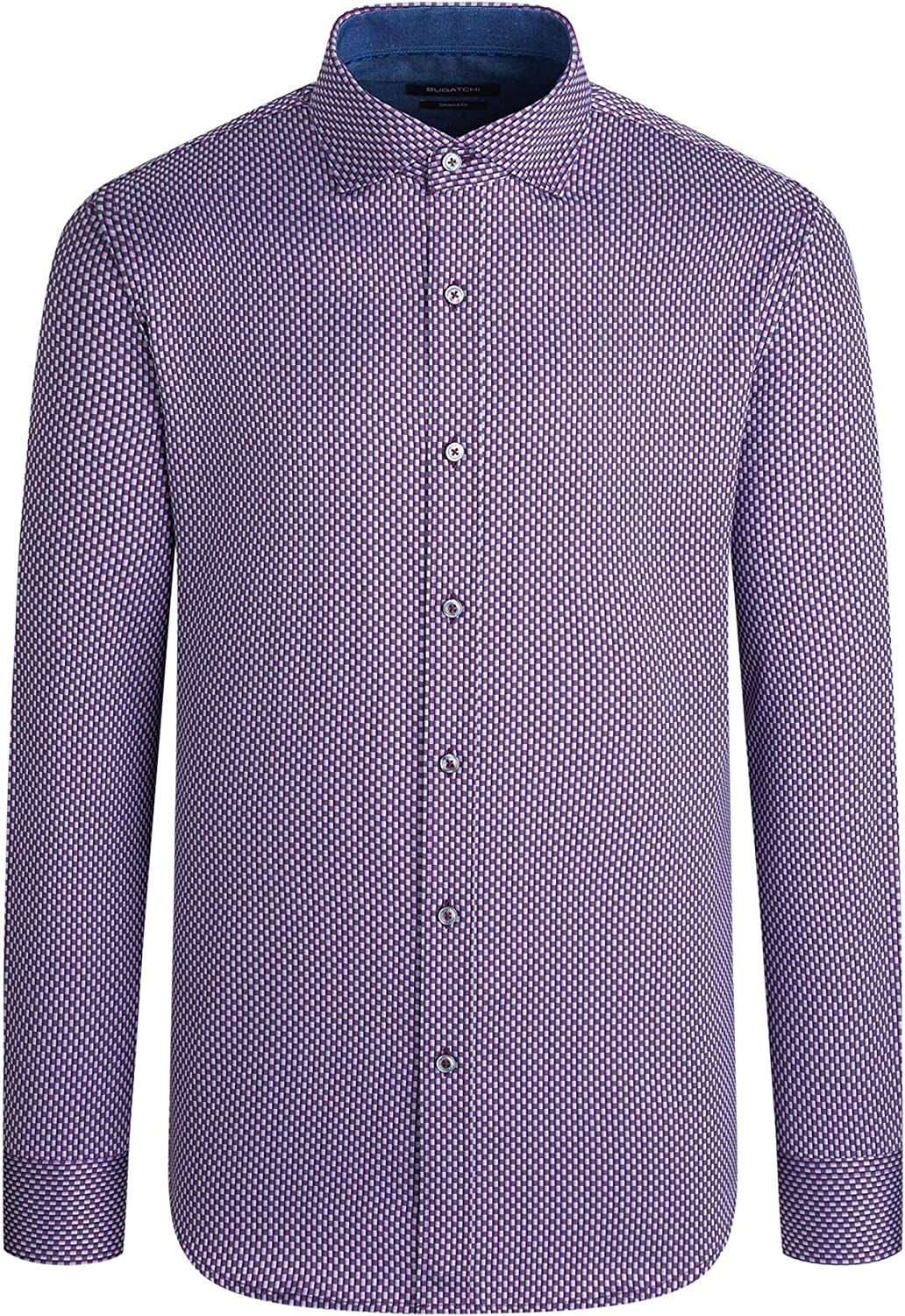 Bugatchi Men's Long Sleeve Spread Button Down Classic Woven