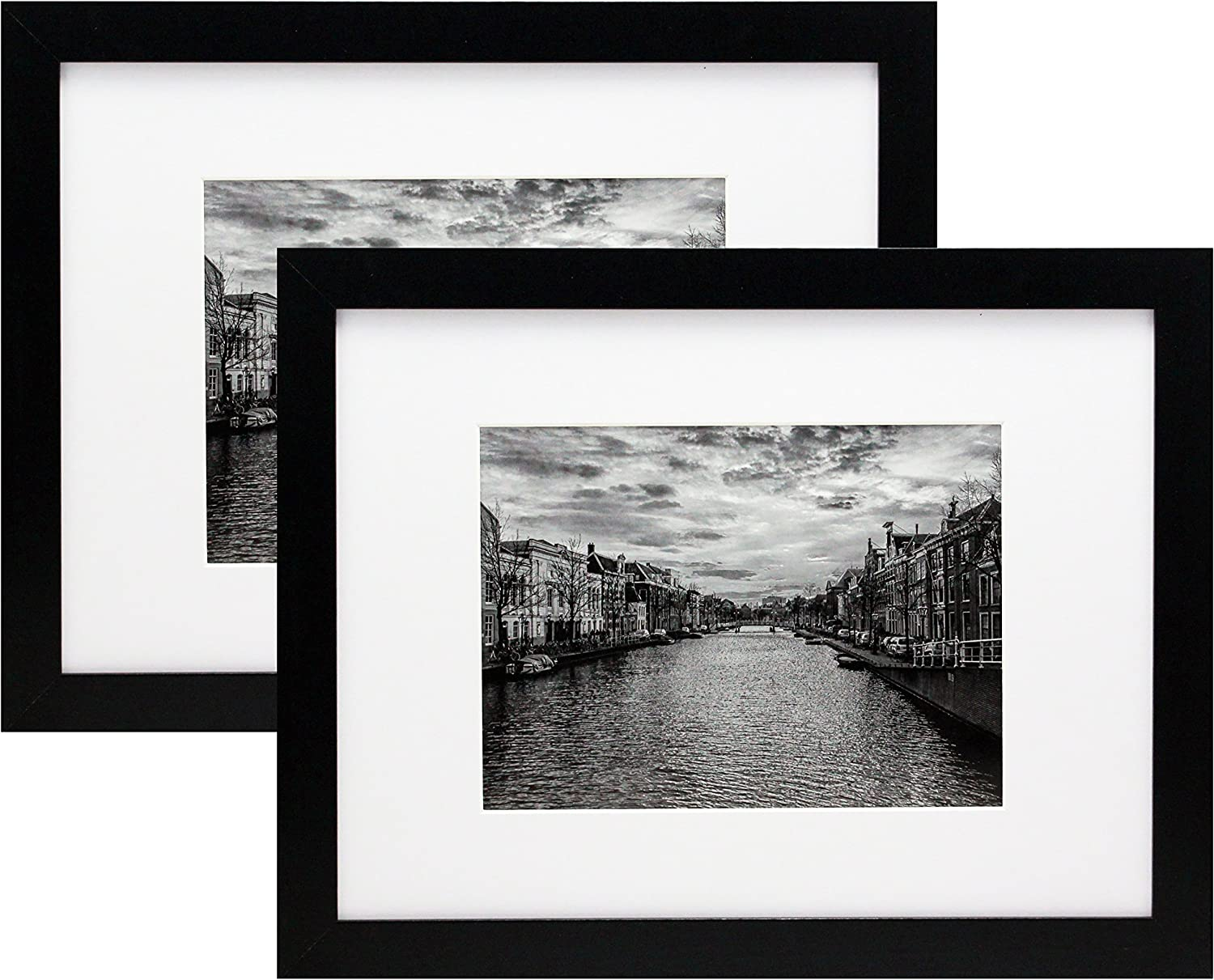 9x12 Limited price Black Gallery Picture Frame with Two Low price 6x8 - 2-Pack Mat