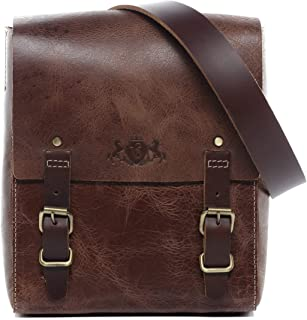 SID & VAIN SID & VAIN Umhängetasche echt Leder Duncan klein Messenger Bag Schultertasche Ledertasche Herren braun
