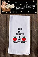 You say Tomato I say Bloody Mary Funny Dish Towels, Funny Tea towels, Flour Sack Towel Kitchen Decore, Custom, Tea Towel, Kitchen Dishcloth, Dishtowel Dish Towel KC00134
