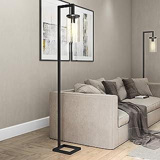 Henn&Hart FL0014 Modern Farmhouse seeded Task Lamp, One Size Black