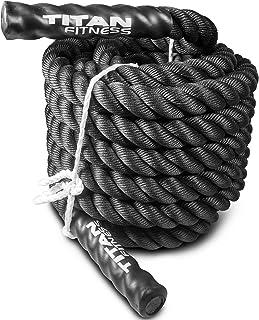 Titan 30' 40' 50' Poly Battle Rope Heavy HD Dacron Climbing WOD Training Fitness