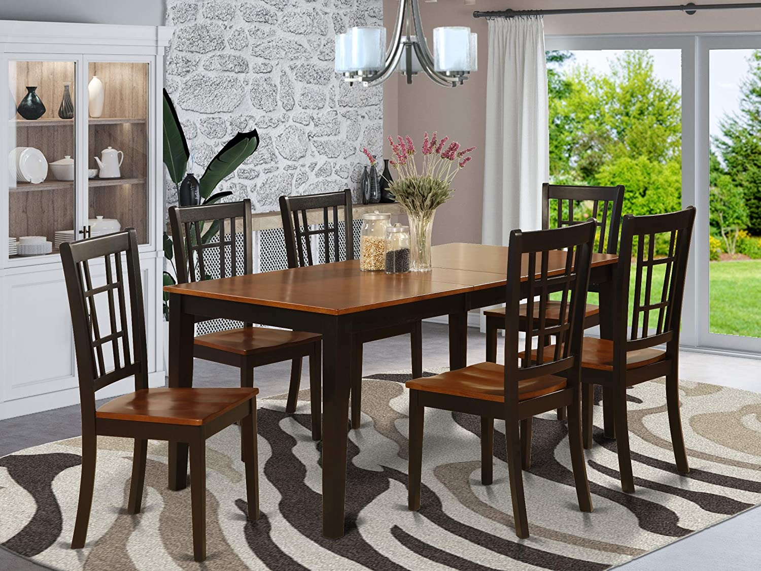 Amazon.com 9 Pc formal Dining room set Dining Table and 9 Chairs ...