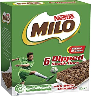 NESTLE MILO Snack Bars Dipped With White Chocolate, 6 Pack, 160g