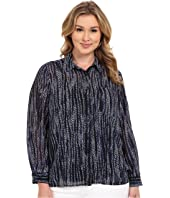 MICHAEL Michael Kors - Plus Size Burnell Hi-Lo Button Down