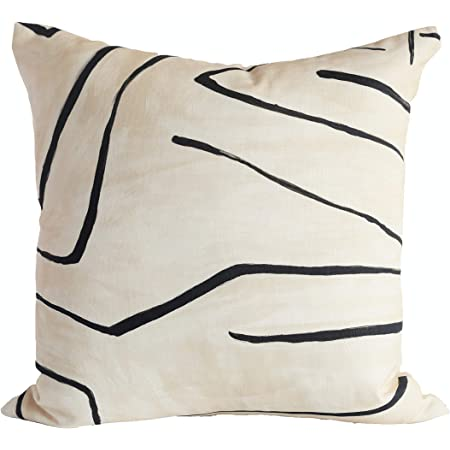 Taupe Ivory Neutral Kelly Wearstler Channels Pillow Cover Geometric Brown /& Off White Pillow Cover