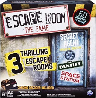 Spin Master Games - Escape Room The Game with 3 Thrilling Escape Rooms to Play, for Ages 16 and Up, Multicolor