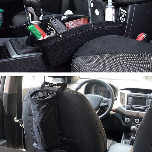 popular EcoNour Gift wholesale Bundle | Car Seat Gap Filler and Organizer 2021 (2 Pack) + Car Trash Bag (2 Pack) | Car Seat Catcher & Holder with Divider | Leakproof Litter Bag | Detachable Garbage & Storage Bag sale