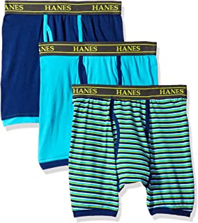 Hanes Ultimate Men's 3-Pack Stretch Colored Boxer Briefs, Colors May Vary