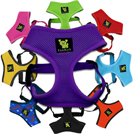 Classic Dog Harness Innovative Mesh No Pull No Choke Design Soft Double Padded Breathable Vest for Eco-Friendly Easy Control Walking Quick Release for Puppies Toy Breeds & Extra-Small Dogs