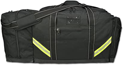 Lightning X Firefighter Premium 3XL Step-in Turnout Gear Bag - Black w/NO Logo (Customizable)