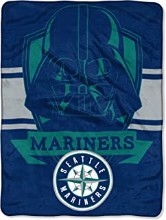 Officially Licensed MLB & Star Wars Cobranded Vader Shield Raschel Throw Blanket, Soft & Cozy, Washable, Throws & Bedding, 46