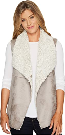 Frosty Tipped Shearling Snap Vest