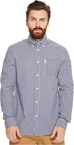 Long Sleeve Gingham Mod Shirt MA10113A