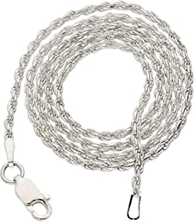 2mm Sterling Silver Diamond-Cut Rope Chain Necklace(Lengths 14