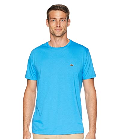 Lacoste Short Sleeve Pima Crew Neck T-Shirt (Ibiza) Men
