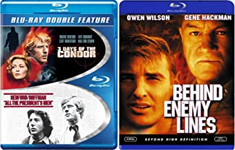 Espionage Collection - Behind Enemy Lines, 3 Days of Condor & All the President's Men 3-Movie Blu-ray Bundle