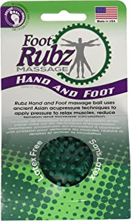 Due North Foot Rubz Foot Hand & Back Massage Ball, Relief from Plantar Fasciitus, Green