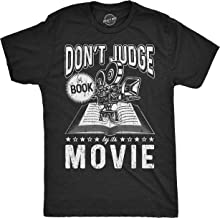 Crazy Dog T-Shirts Mens Don't Judge A Book Lover Tshirt Funny Sarcastic Reading Joke Tee for Guys
