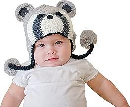 Huggalugs Boys or Girls Bandit Raccoon Earflap Beanie Hat