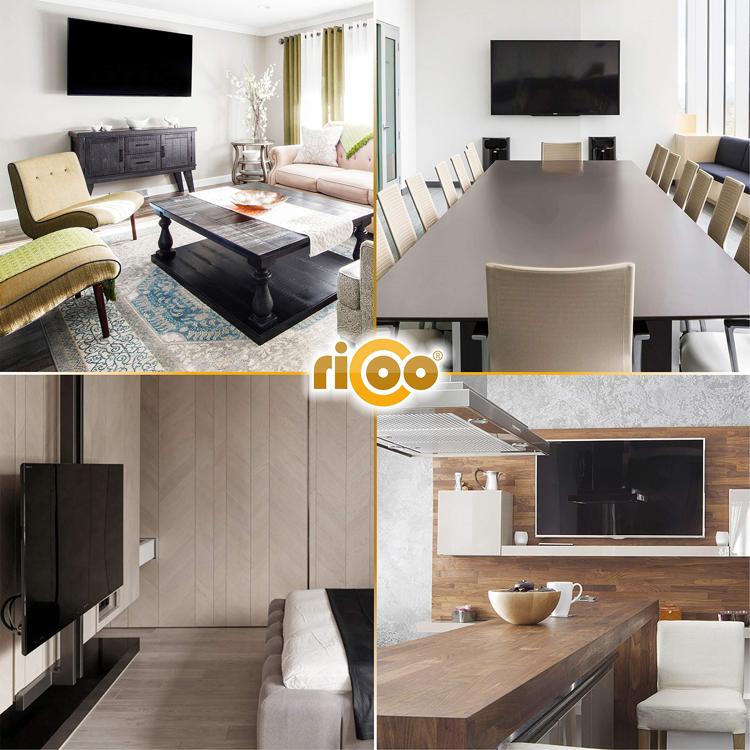 RICOO F0144, Soporte TV Pared, Fijo, Plano, Ultra Delgado ...