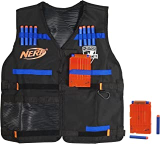Official Nerf Tactical Vest N-Strike Elite Series Includes 2 Six-Dart Clips and 12 Official Nerf Elite Darts For Kids, Teens, and Adults (Amazon Exclusive)
