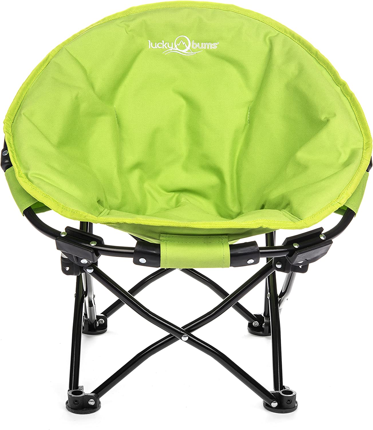 Lucky Bums Moon Camp Adult Indoor Outdoor Comfort Lightweight Durable Chair with Carrying Case
