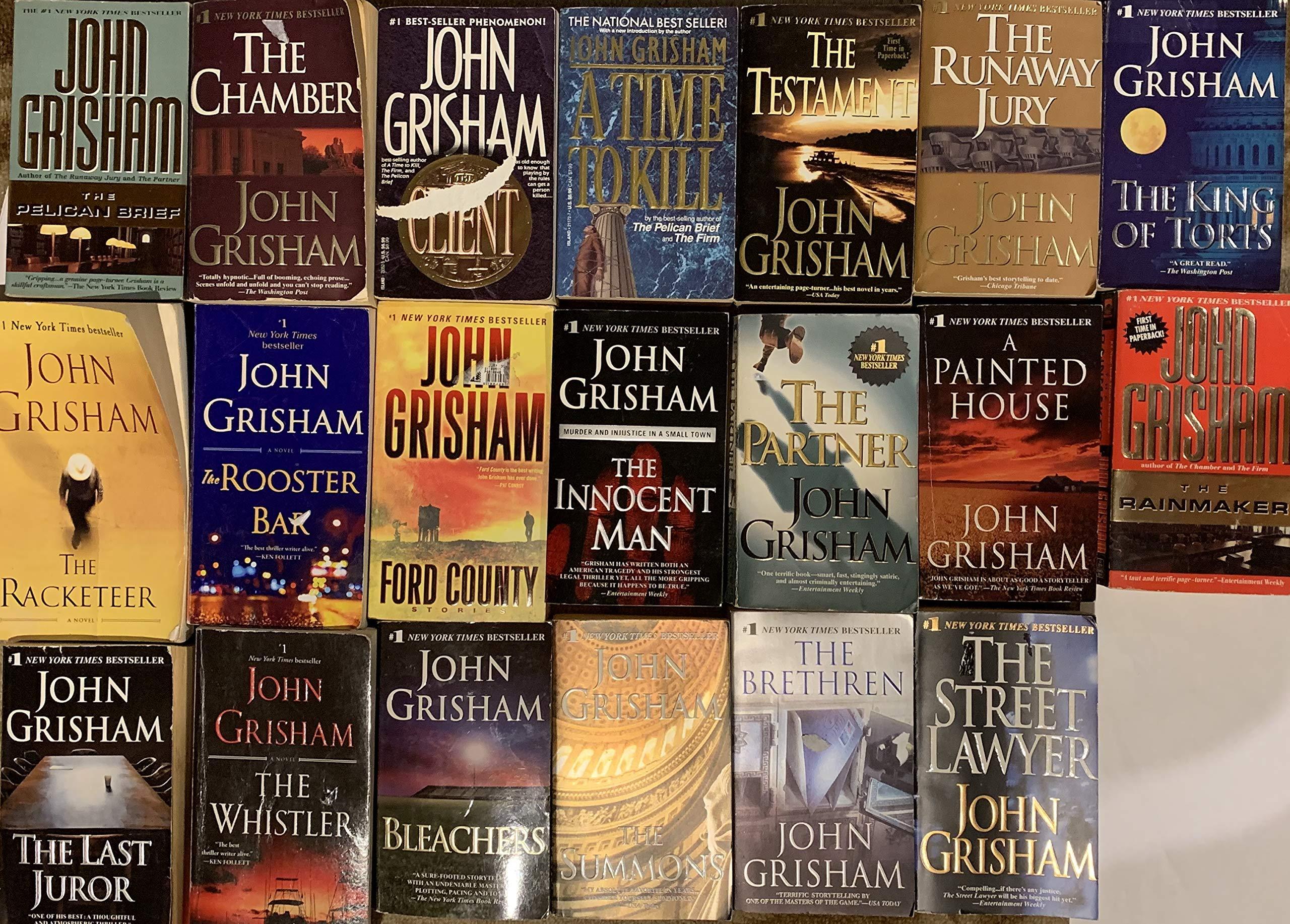 John Grisham Thriller Novel Collection 20 Book Set