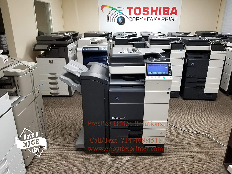 Konica Minolta Bizhub C654e Copier Printer Scanner Network with Staple Finisher