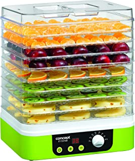 comprar comparacion Concept Electrodomésticos SO1060 Deshidratador de alimentos, temporizador, con 9 bandejas rectangulares, temperatura ajust...