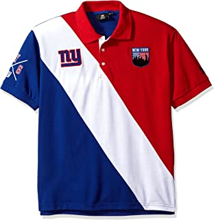 New York Giants Diagonal Stripe Cotton Rugby Polo Double Extra Large