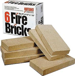 ラトランド604 FIRE BRICK-暖炉-デューティ·4.5インチ×9インチ×1.25インチ6レンガ/ボックス