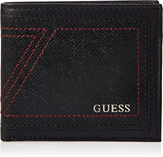 Guess Mens Global Passcase Wallet, Black, One Size - 31GUE22091