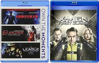 X-Men First Class Blu Ray Marvel Super Hero Daredevil / Elektra & The League of Extraordinary Gentlemen 4 Movie Comics Bundle Set