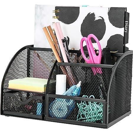 EXERZ Desk Organiser/Mesh Desk Tidy/Pen Holder/Multifunctional Organizer EX348 - Black