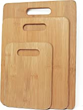 3pcs Set Bamboo Chopping Board Kitchen Serving Cutting Wooden Platter BPA Free Perfect for Any Kitchen. Cut Meat, Veggies- Anti-Bacterial and Sustainable
