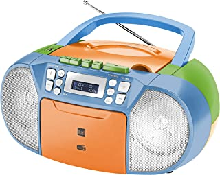 Dual DAB-P 210 Cassette Radio with CD - DAB (+) / FM Radio - Boombox - CD Player - Stereo Speaker - USB Port - Aux Input -...