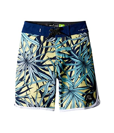 Quiksilver Kids Highline Pandana 17 Boardshorts (Big Kids) (Yellow Iris) Boy