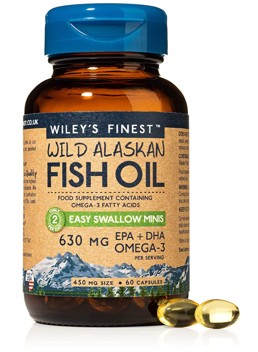 Wileys' Finest Easy Swallow Minis Fish Oil - 60 caps