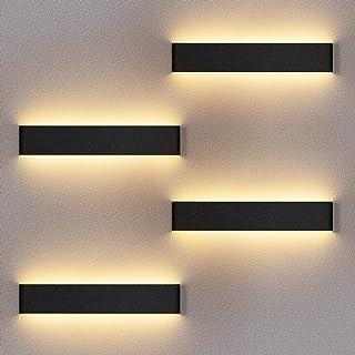 4 Pack Applique Murale Interieur LED 36CM Lampe Murale 3000K Blanc Chaud Moderne Up Down Appliques Murales 12W Luminaire M...