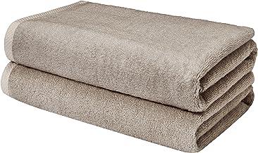 AmazonBasics, Juego de toallas de secado rápido, Platino, 2 piezas