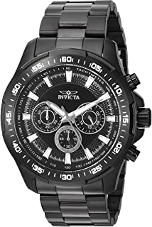 Invicta Men's Speedway Quartz Watch with Stainless-Steel Strap, Black, 24 (Model: 22785)