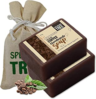 Speaking Tree – Exfoliating Coffee Handmade Soap 100Gms (Pack of 2) | Specially Formulated and Cold processed – All Natural Ingredients for Perfectly Clean Skin - Handmade with Love