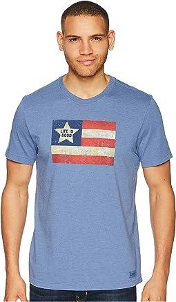 Vintage American Flag Crusher Tee