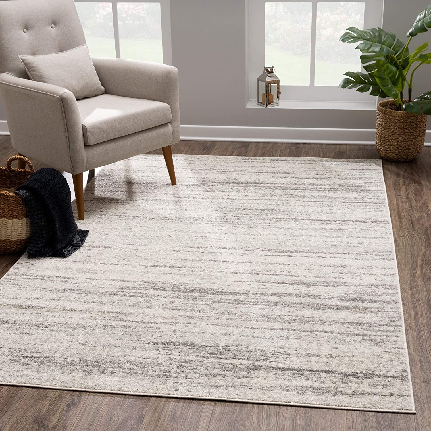 2021 Opening large release sale model Modern Cream Gray Area Rug - 6x9 for Contemporary L Abstract