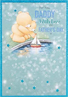 DADDY With Love on Fathers Day Forever Friends Card By Hallmark